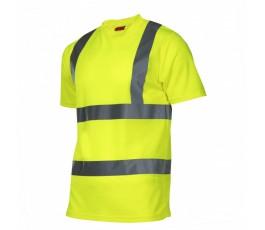 lahtipro koszulka t-shirt ostrzegawcza l żółta l4020803