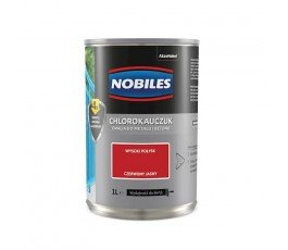 nobiles emalia chlorokauczukowa jasnoczerwona 1l do betonu i metalu u030400a010