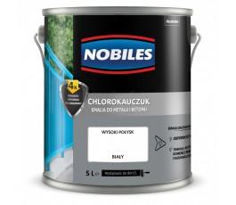 nobiles emalia chlorokauczukowa biała 5l do betonu i metalu