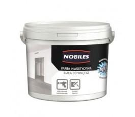 """nobiles farba inwestycyjna """"nobimal"""" 5l biała do wnętrz"""