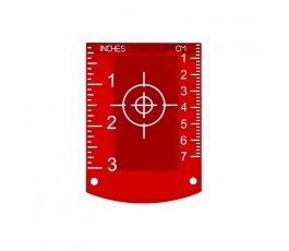 nivel system tarczka laserowa czerwona tr-r