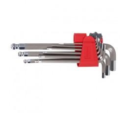 proline zestaw 9 kluczy imbusowych 1.5-10mm z kulką 48330