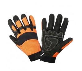 """lahtipro rękawice warsztatowe rozmiar """"xl"""" czarno-pomarańczowe l280110k"""
