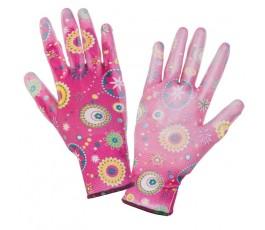 """lahtipro rękawice ogrodowe różowe rozmiar """"m"""" l230308k"""