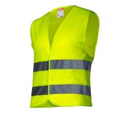 """lahtipro kamizelka ostrzegawcza żółta dla dzieci 7-9 lat rozmiar """"m"""" l4130102"""