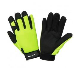 """lahtipro rękawice warsztatowe czarno-żółte rozmiar """"l"""" l280309k"""