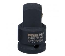 """proline adapter udarowy z trzpieniem 3/8"""" i gniazdem 1/2"""" crmo zr18481"""