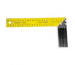 mega kątownik stalowy ze skalą dwustronną 250mm żółto-czarny 21125
