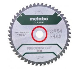 """metabo piła tarczowa """"precision cut wood - classic"""" 254x30mm z48 wz 5st ujemny 628061000"""
