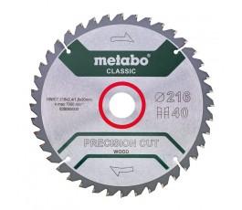 """metabo piła tarczowa """"precision cut wood - classic"""" 216x30mm z40 wz 5st ujemny 628060000"""