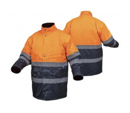 hogert kurtka robocza ocieplana s pomarańczowa ht5k237-s
