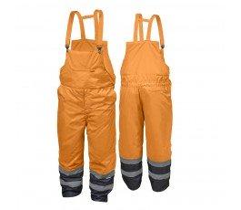 hogert spodnie robocze ocieplane ostrzegawcze z szelkami s pomarańczowe ht5k251-s