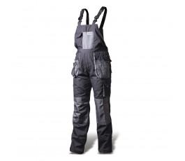 hogert spodnie robocze z szelkami ld popielato-szare ht5k270-ld