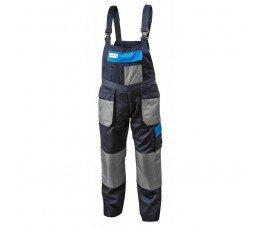 hogert spodnie robocze z szelkami xl granatowo-szaro-niebieskie ht5k271-xl
