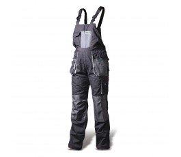 hogert spodnie robocze z szelkami xxxxl popielato-szare ht5k270-4xl