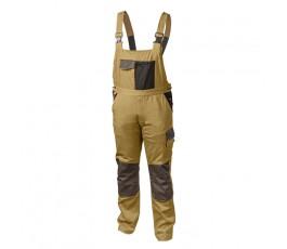 hogert spodnie robocze z szelkami xxl beżowe ht5k272-2xl