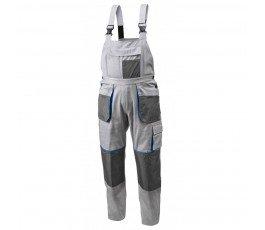 hogert spodnie robocze z szelkami xxl szare ht5k273-xxl