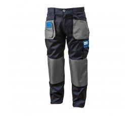 hogert spodnie robocze bawełniane xl granatowo-szaro-niebieskie ht5k275-xl