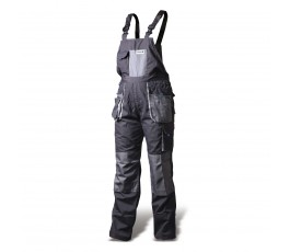 hogert spodnie robocze z szelkami l popielato-szare ht5k270-l