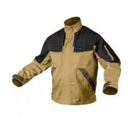 hogert kurtka robocza z odblaskami l wzmocniona beżowa ht5k282-l