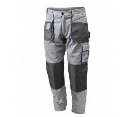 hogert spodnie robocze bawełniane l szare ht5k277-l