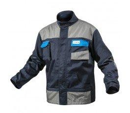 hogert kurtka robocza l granatowo-szaro-niebieska wzmocniona ht5k281-l