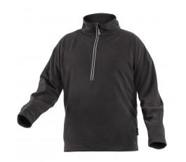 hogert bluza polarowa eder z zamkiem s czarna ht5k374-s