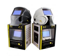 spartus przyłbica spawalnicza automatyczna pro 301x szara/biała z kaskiem ochronnym 080-10-301g ; 080-10-301w