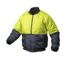 hogert kurtka robocza ocieplana s żółta ht5k239-s