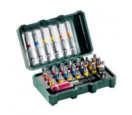 """metabo zestaw 27 bitów """"sp"""" + adapter i uchwyt magnetyczny 626710000"""