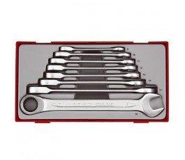teng tools zestaw 8 kluczy płasko-oczkowych 8-19mm crv 166720102