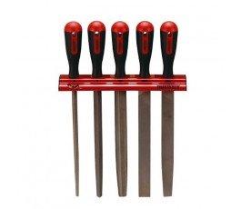 """teng tools zestaw 5 pilników 10"""" 250mm na wieszaku ściennym 128660107"""