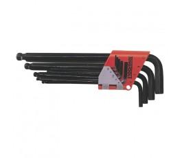 teng tools zestaw 9 kluczy trzpieniowych 6-kątnych 1.5-10mm crv 112260104