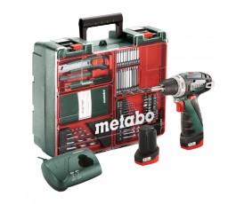 metabo akumulatorowa wiertarko-wkrętarka powermaxx bs basic set 10.8v + 63szt osprzętu 600080880