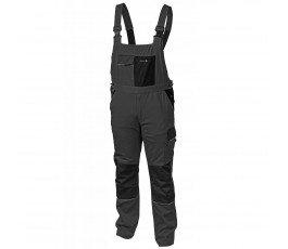 hogert spodnie robocze z szelkami xl szare ht5k278-xl