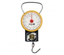 vorel waga sprężynowa 32kg z miarką zwijaną 1m 15301