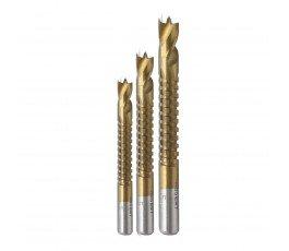 hogert zestaw 3 wierteł-pił 5-8mm ze stali hss do drewna i tworzywa ht6d336