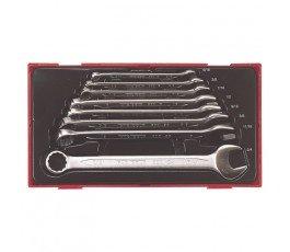 teng tools zestaw 8 kluczy płasko-oczkowych crv 58050303