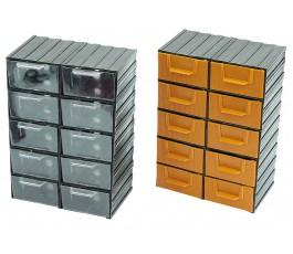 profix pojemnik plastikowy 10-szufladkowy 214x302x120mm 35802