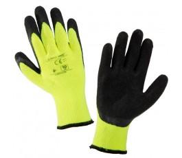 """lahtipro rękawice ochronne ocieplane czarno-żółte rozmiar """"xl"""" l250410k"""