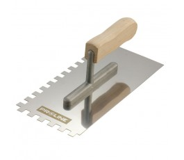 proline paca nierdzewna 270x130mm ząb 4x4mm z rączką drewnianą 61531