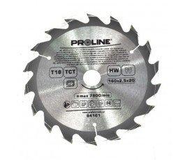 proline piła tarczowa do drewna 160mm 18-zębna redukcja 20/16mm 84161