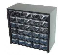 profix szafka metalalowa z 30 szufladami plastikowymi 310x280x150mm 35830