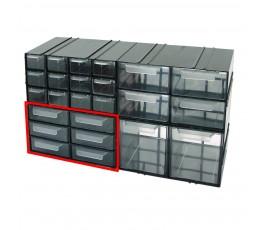 mega szafka plastikowa 125x230x140mm z 6 szufladkami px 35805