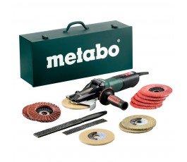 metabo szlifierka kątowa z płaską głowicą wevf 10-125 quick inox set 1000w 613080500