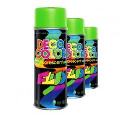 deco color lakier akrylowy fluorescencyjny zielony 400ml 14360 [#4eae3b]