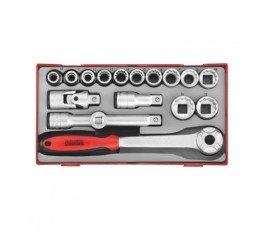 teng tools zestaw klucza, akcesoriów i 12 nasadek 39180203