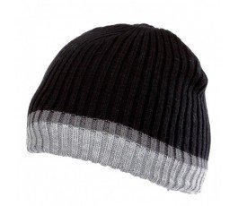 lahtipro czapka akrylowa z ociepliną czarno-szara l102060s