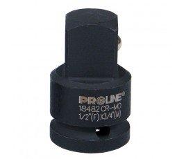 """proline adapter udarowy cr-mo z trzpieniem 1"""" i gniazdem 3/4"""" crmo 18907"""