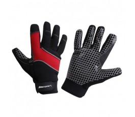 """lahtipro rękawice ochronne warsztatowe antypoślizgowe czarno-czerwone rozmiar """"10"""" l281110k"""